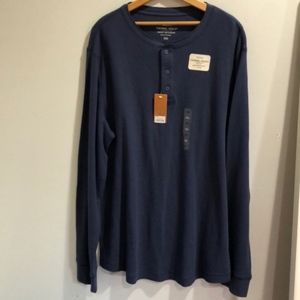 NWT Sonoma blue Thermal Henley, XXL